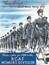 GUERRA DI PROPAGANDA Canada FEMMINILE DIVISIONE RCAF Air Force fine art print poster cc1761