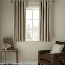 John Lewis Faux Silk Lined Eyelet Curtains, Putty W167cm L137cm