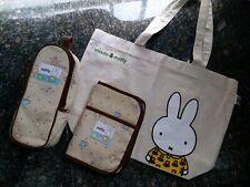 Lot of 3 Miffy Cotton Baby Bag set