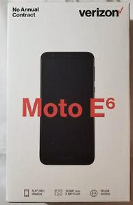 Verizon Motorola Moto E6 Black No Contract Smartphone Cell Phone NEW