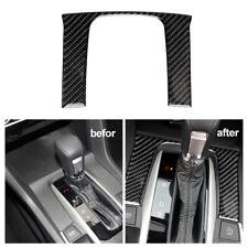 Car Carbon Fiber Shift Interior Gear Cover Panel Trim Accessory For Civic 16-19