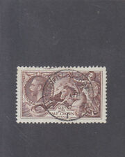 GREAT BRITAIN-1934-2 SHILLINGS & SIXPENCE SEAHORSE-(2/6d)-CHOCOLATE-SG 450-F/U