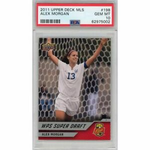 Graded 2011 Upper Deck UD MLS ALEX MORGAN #198 Rookie RC Soccer Card PSA 10 Mint