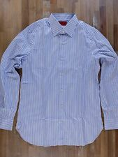 ISAIA Napoli striped cotton dress shirt authentic - Size 41 / 16 - NWOT