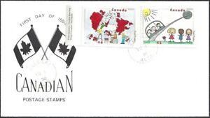 Canada   # 1861 &1860    STAMPIN THE FUTURE EVENT COVER     New 2000 Unaddressed