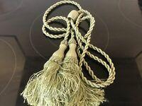 1 long Curtain Holdbacks Rope Tie Backs Tassel Tiebacks