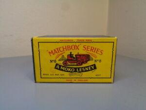 MATCHBOX MOKO LESNEY No 8A VINTAGE ORIGINAL BOX FOR CATERPILLAR TRACTOR VG