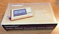 Vintage Quartz Compuchron Travel Alarm Clock Original Box Working
