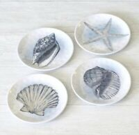 Better Homes & Gardens Indoor / Outdoor Salad Plates CORAL REEF Set of 4 Designs