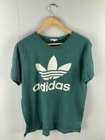 Adidas Vintage Men's Graphic Short Sleeve T Shirt - Size M - Green