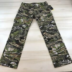 Under Armour Field Ops Storm Pants Forest Camo Hunting Size 36x34 1313212 940
