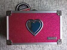 VAULTZ Pink Sparkle Heart Pencil Locking Case Storage Box W/ Keys NWT