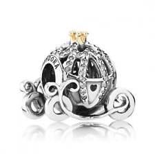 Genuine Sterling Silver Pandora Disney, Cinderellas Pumpkin Coach Charm 791573CZ