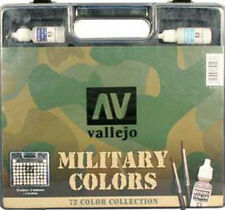 Vallejo VLJ-70173 Vallejo Military Color Basic Paint Set Carry Case 72 colors
