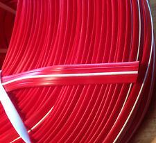 30 m Abdeckprofil Kederschiene Schraubkanal Leistenfüller rot / weiß 12mm