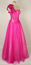 New Genuine Jovani 159455 Fuchsia Full-Length Bridal Evening Women Gown 10
