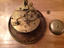 Antique Vincenti Barrel Clock Movement Chiming for Restoration