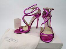 Jimmy Choo Lance Metallic Pink Sandals Heels Shoes 37 UK 4