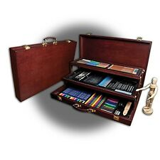 Drawing Art Set 134 Piece Professional Premier Sketching Pencils Model Kit Case