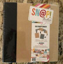 "Scrapbooking Binder Simple Stories Snap Studio Black & Kraft 6X8"" New Ship FREE"