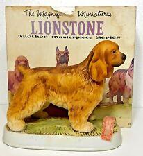 1975 Lionstone American Cocker Spaniel Dog Porcelain Empty Decanter w/Box