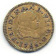 Fernando VI 1/2 Escudo 1755 Madrid JB @ DURILLO o chato @