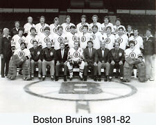 Boston Bruins 1981-82 8x10 Team Photo