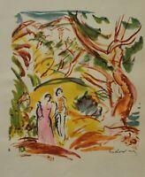 Othon Friesz: Vision Of Paradise - Lithografie Originell Unterzeichnet, 1949