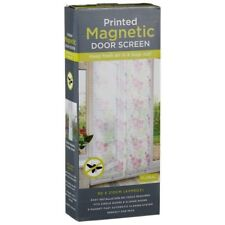 Printed Magnetic Door Screen Fly Curtain Insect Easy installation For Bugs Out
