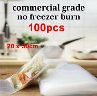 Pack 100 Vacuum Sealer Food Bags 8 X 12 inch for Food Saver Seal a Meal NEW