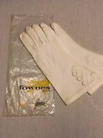 Vintage Fownes Ladies White Gloves Size 7 with Embroidery