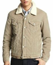 Levis Mens Jacket Button Up Corduroy Sherpa Trucker Jacket Many Sizes NWT