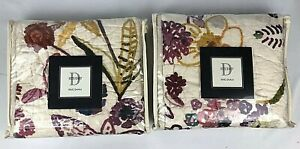 D Studio Sasha King Sham 20x36 In. Quilted Cotton Lot Of 2 New