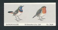 Norway BIRDS BOOKLET (1982) #801A; ROBIN & BLUE-THROAT; MNH