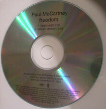 """Paul McCartney freedom Rare 2001 USA Promo Only ACETATE CD small """"f"""" Plus Flyer"""