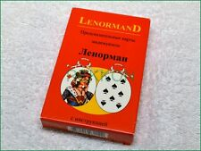 Red Russian Madame Lenormand 36 Fortune Telling Tarot card with Russian Manual