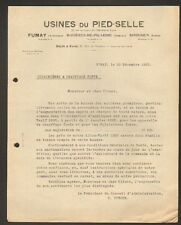 FUMAY (08) USINE DU PIED-SELLE , TOLERIE / APPAREILS de CHAUFFAGE Fonte en 1925
