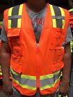 Surveyor Orange Two Tones Safety Vest , ANSI/ ISEA 107-2015/ Photo ID Pocket