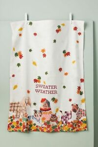 NWT Anthropologie Sweater Weather Dish Towel
