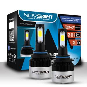 2PCS NOVSIGHT 72W 9006 (HB4) LED Light Headlight Bulbs Kit 6500K White Beam