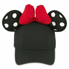 Disney Parks Minnie Mouse Ears Black Snapback W/ Polka Dots Cap Hat (Adult) NWT