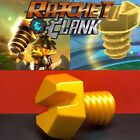 Ratchet and Clank Gold bolt 3D Printed in PLA Plastic Full Size 3D Printed