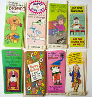 42 Vintage 1969 Greeting Cards Amberley Birthday Humor Glitter Embossed NOS
