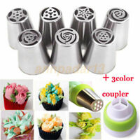7Pcs Flower Tulip Baking Russian Tools Decorating Cake Icing Tips Nozzles Piping