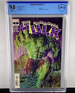 Immortal Hulk #1 CBCS 9.8! 1st Immortal Hulk Issue! Alex Ross Art! Not CGC.