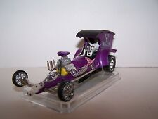 """CUSTOM HO SLOT CAR """"BAD MEDICINE"""" DRAGSTER W/A NEW AURORA TYPE 4 GEAR HO CHASSIS"""