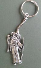 Angel Pewter Keyring, Archangel Raphael, hand crafted, Angel motif 4.5 x 2.5 cm