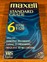 Blank Maxell Video Cassette VHS VCR Recording Tape New / Sealed 6 Hour T-120