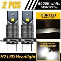 2x H7 110W Car 5050 CSP LED Headlight Kit Canbus Error Free Lamp 30000LM 6000K
