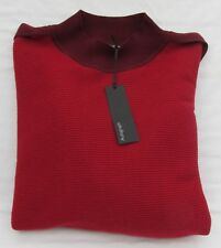 Ladies Marks and Spencer Autograph Crimson and Burgundy High Neck Jumper Size 20